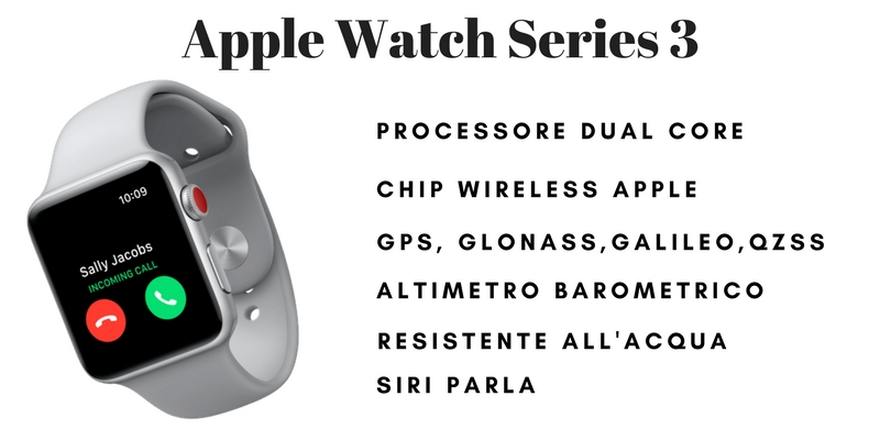 Specifiche Apple Watch Series 3