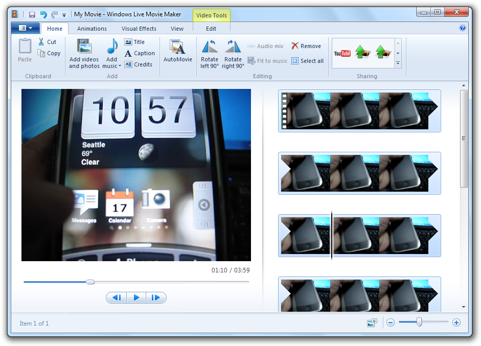 come si usa Windows live movie maker