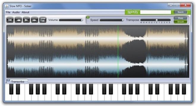 Funzionamento di base di Slow MP3