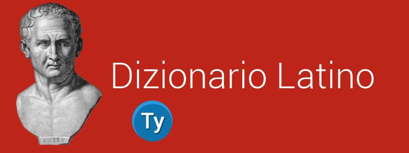 classico esempio di dizionario latino