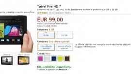 Amazon Fire HD 7: in offerta per il Black Friday a soli 99€