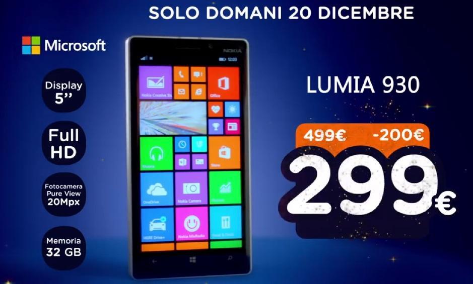Lumia 930 unieuro natalissimi