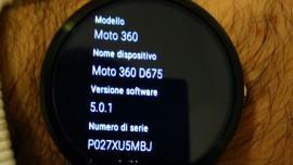 Moto 360 con Android Wear 5.0.1