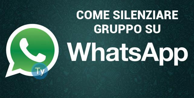 WhatsApp-Silenziare-gruppo