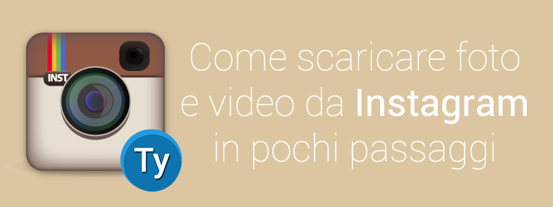 scaricare foto video instagram