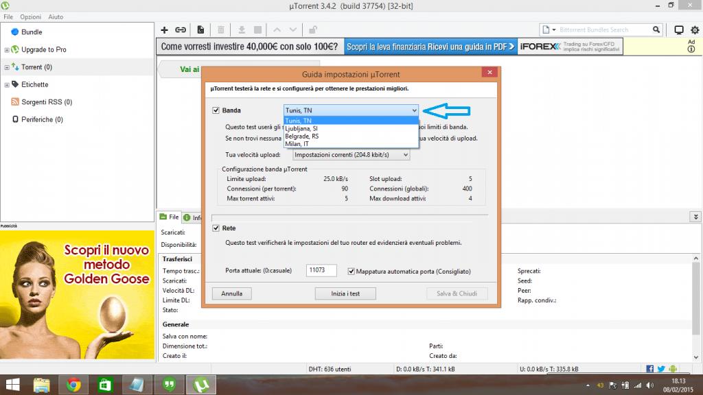 configurazione guidata μTorrent
