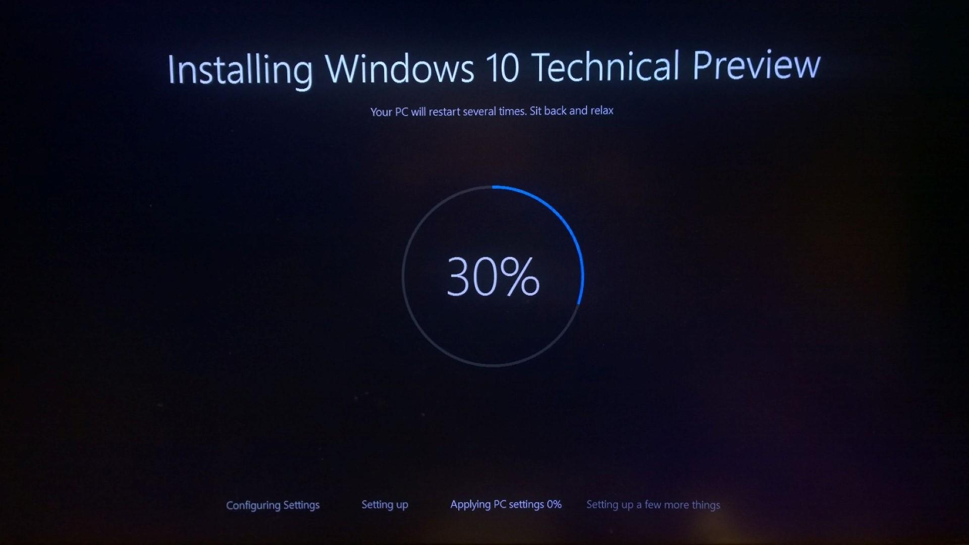 installazione Windows 10 TP