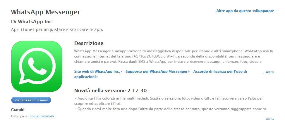 Whatsapp AppStore