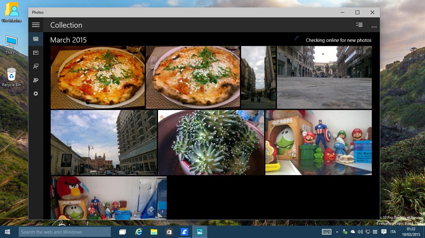 Windows 10 applicazione foto