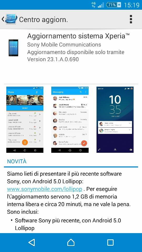 Xperia Z2 Android Lollipop