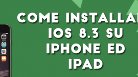 installare iOS 8.3 iPhone iPad