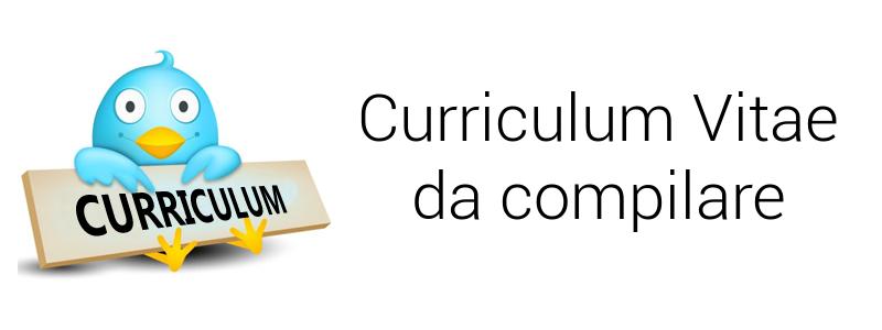 Curriculum vitae da compilare