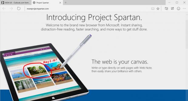 Problemi Project Spartan Windows 10