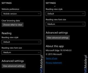 Windows 10 Mobile Build 10149 Microsoft Edge 2
