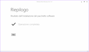 Ripristino Windows Phone 8.1 riepilogo