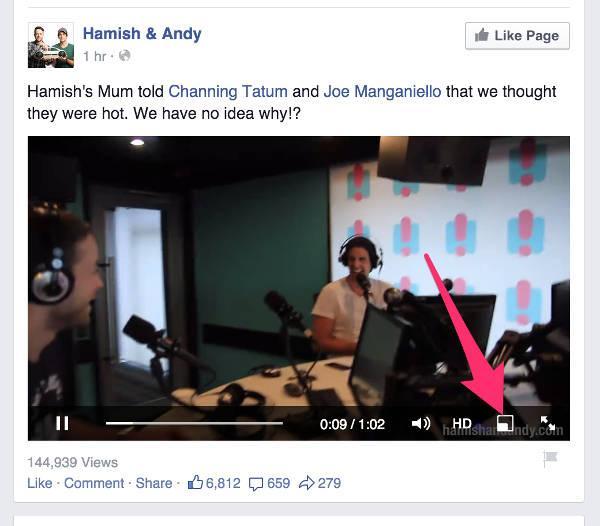 Facebook Floating Video