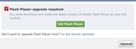 Flash Player Facebook