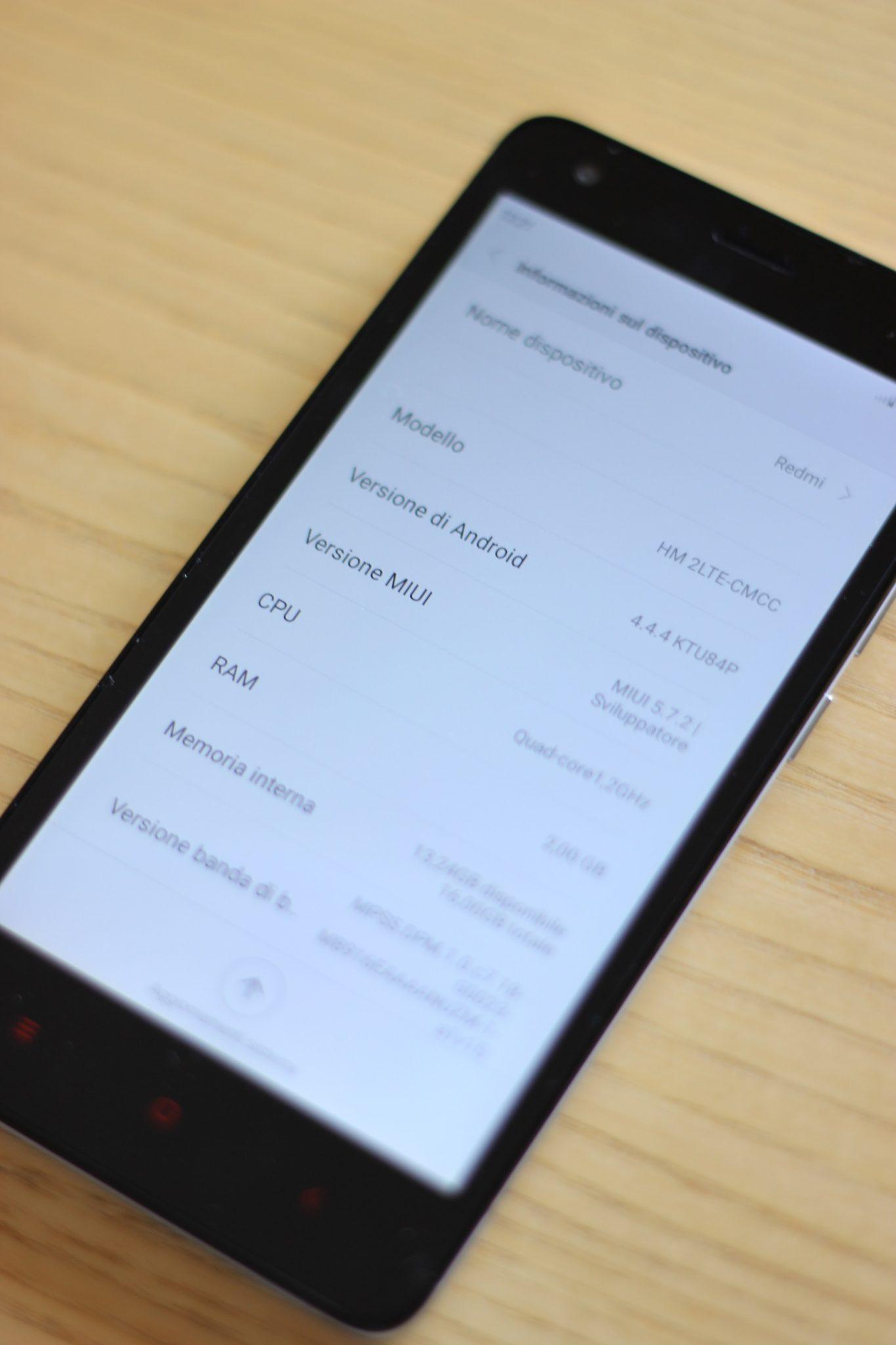 MIUI Xiaomi Red Mi 2