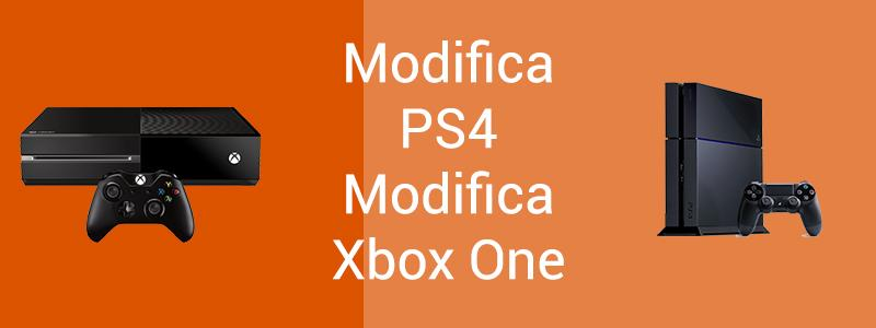 Modifica Xbox One PS4