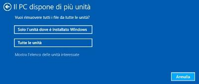 Ripristino Windows unità