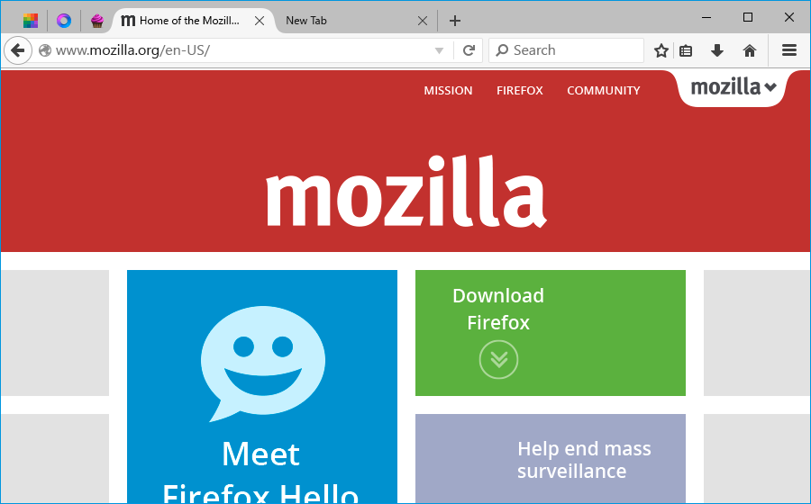 Mozilla Firefox per Windows 10