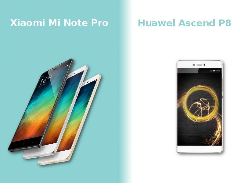 Xioami Mi Note Pro vs Huawei Ascend P8