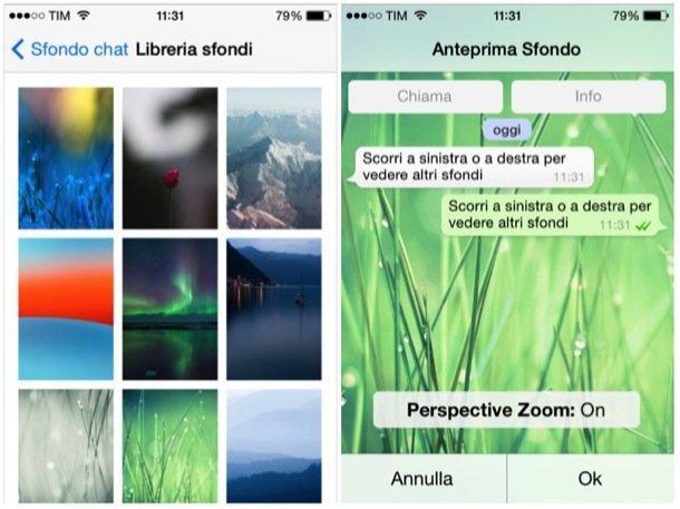 Cambiare sfondo Whatsapp iPhone