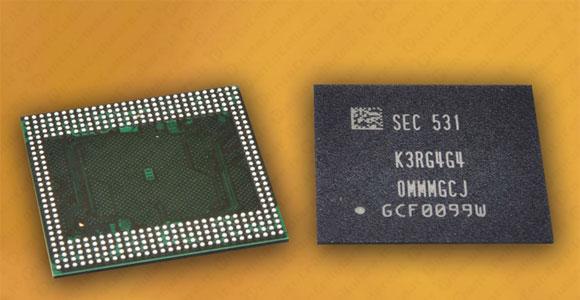 Samsung chip LPDDR4 6 GB ROM