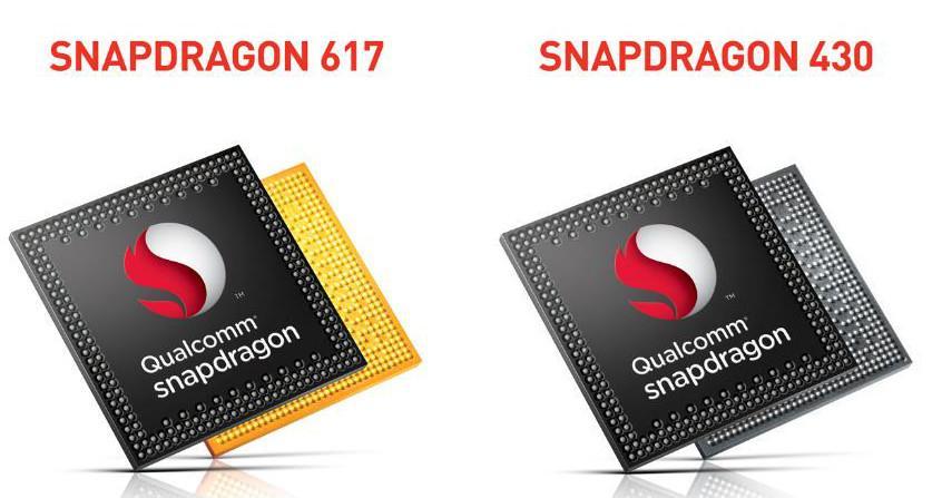 Snapdragon 430 e 617