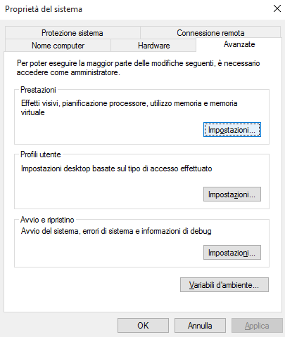 Prestazioni-windows