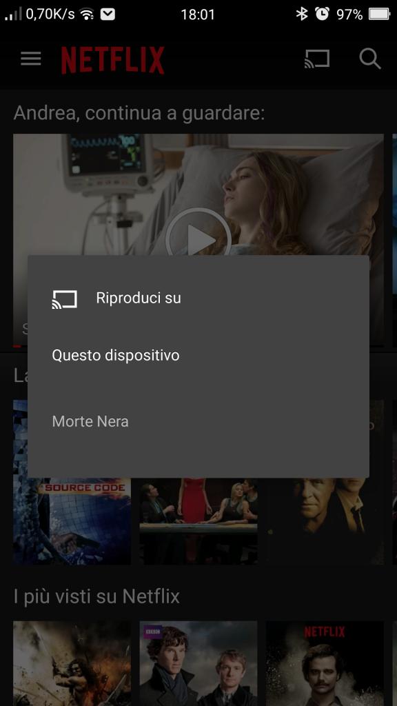 Come funziona Netflix su Chromecast