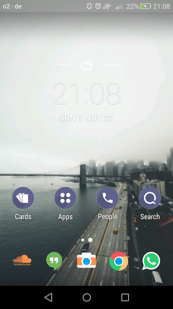Launch Android launcher