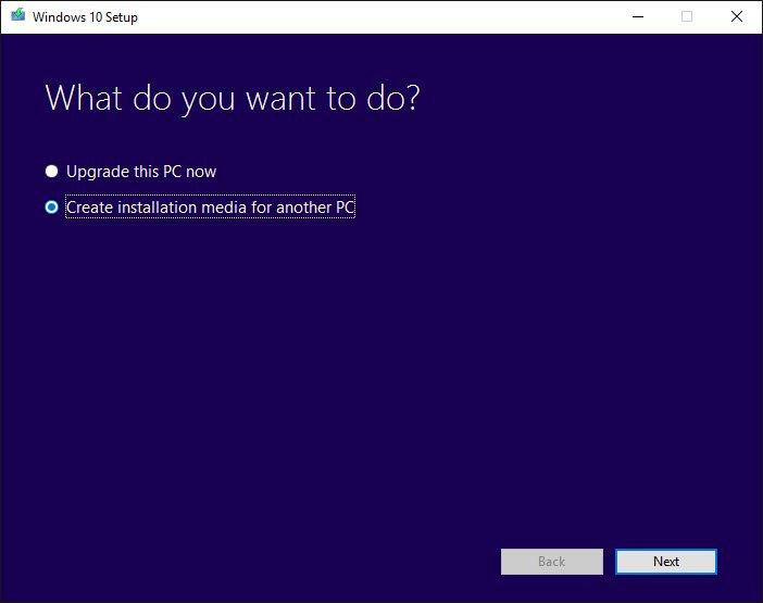 Media Tool Windows 10