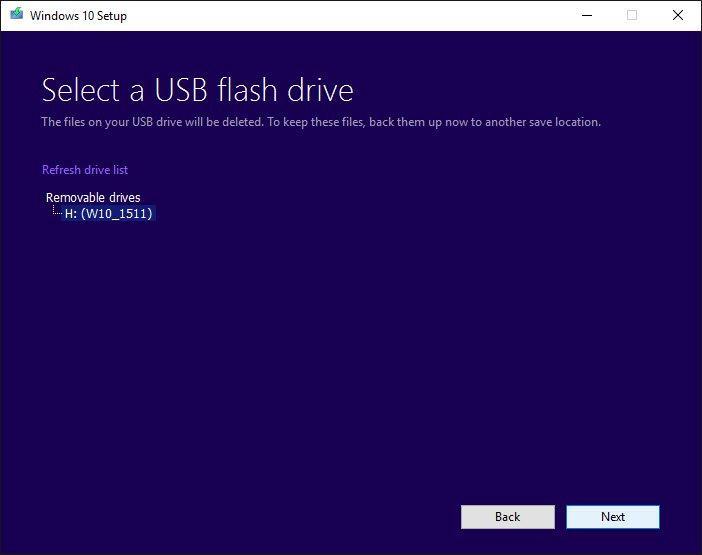 Media Tool Windows 10 USB