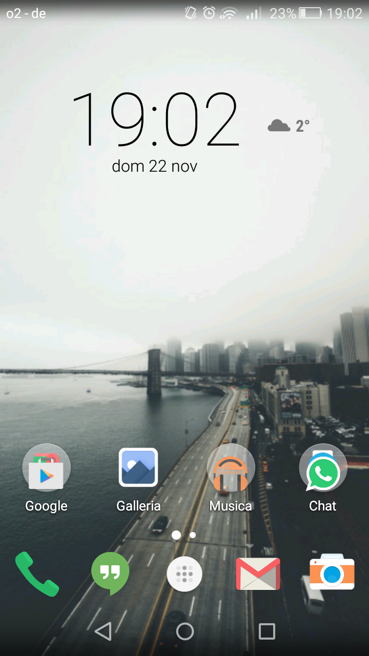 Nova Launcher Prime screen