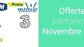 Offerte Vodafone, Tim, Wind, 3Italia e Postemobile di Novembre 2015
