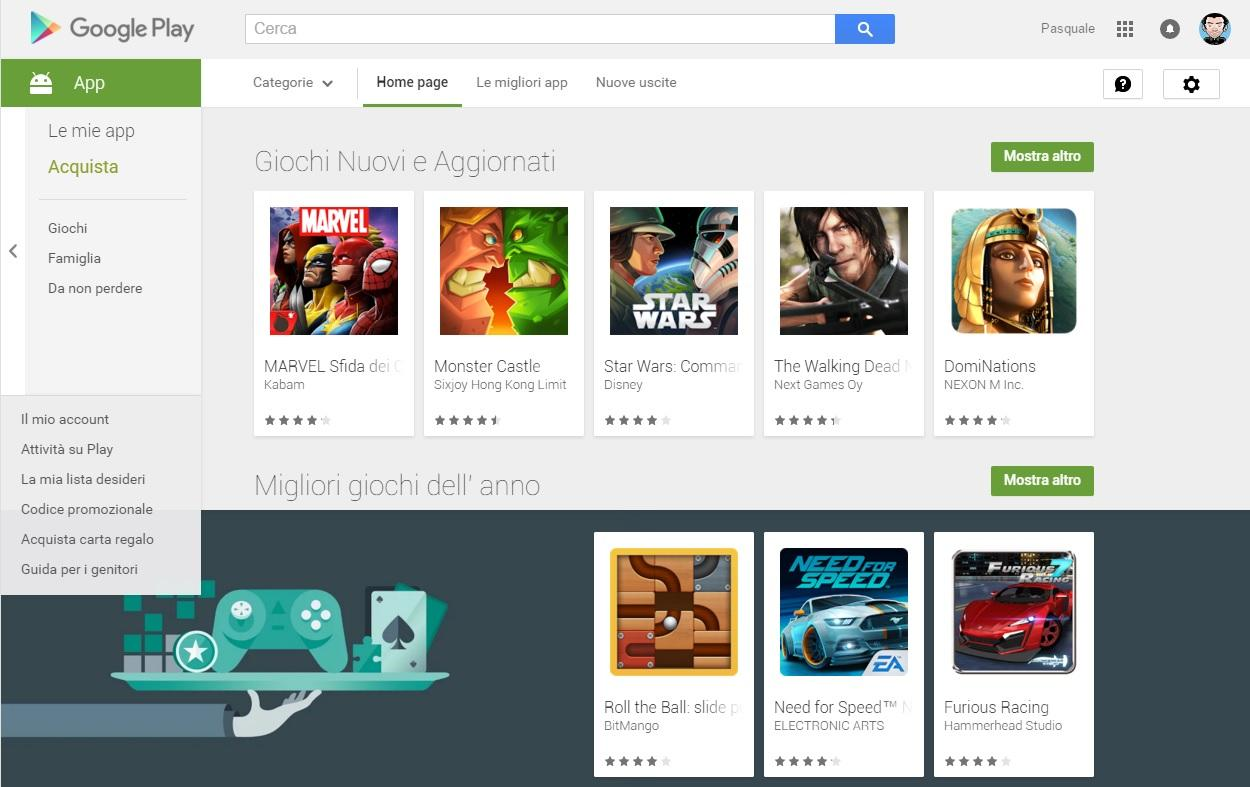 Google Play Store streaming