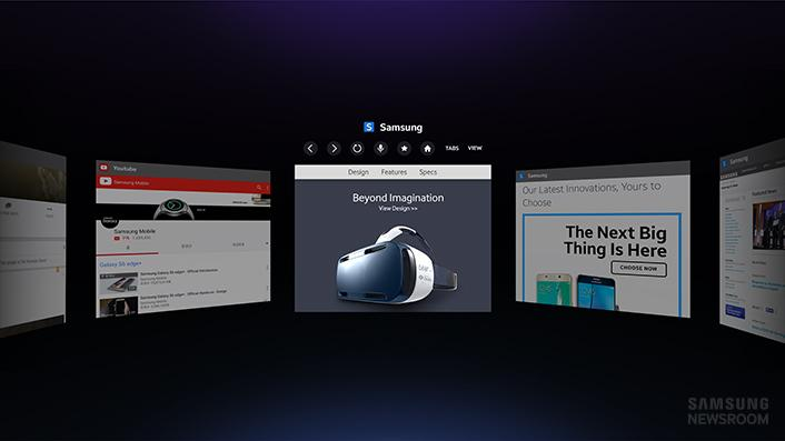 Internet for Gear VR