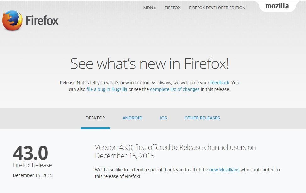 Mozilla Firefox 43 64 bit