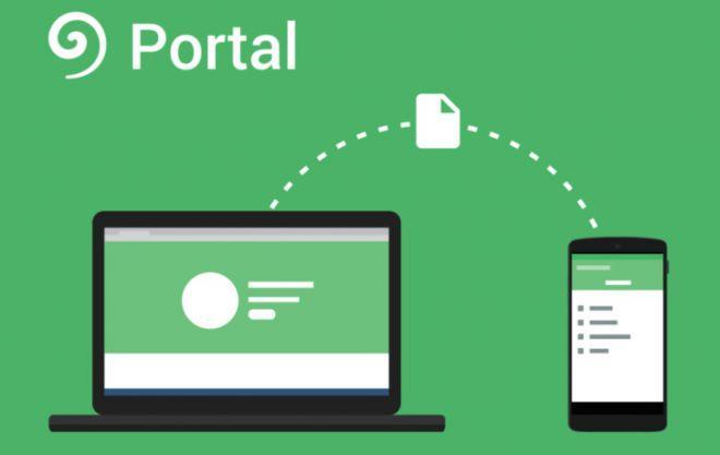 Portal Pushbullet app