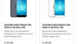 Ulefone Paris in offerta su Orientech.it a soli 157€