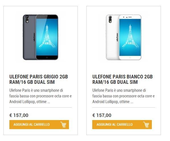 Ulefone Paris offerta Orientech