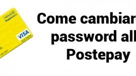 Come cambiare password Postepay