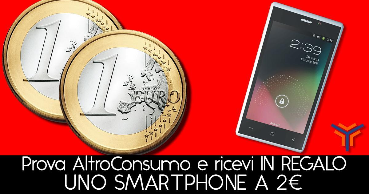 Smartphone Altroconsumo 2 euro