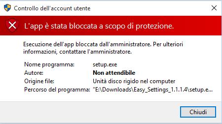 """Risolvere il problema dell'app """"bloccata a scopo di protezione"""" in Windows 10"""
