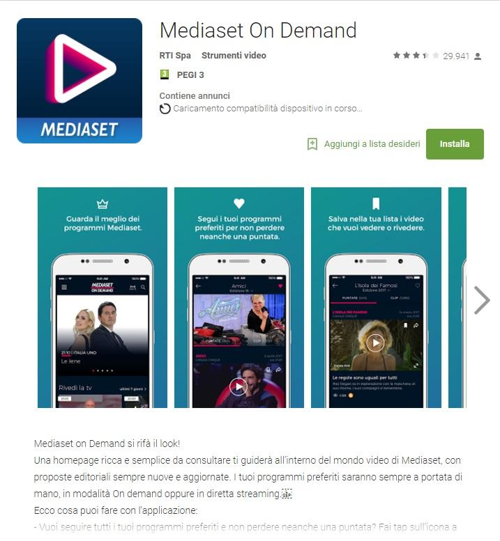 Video Mediaset Android