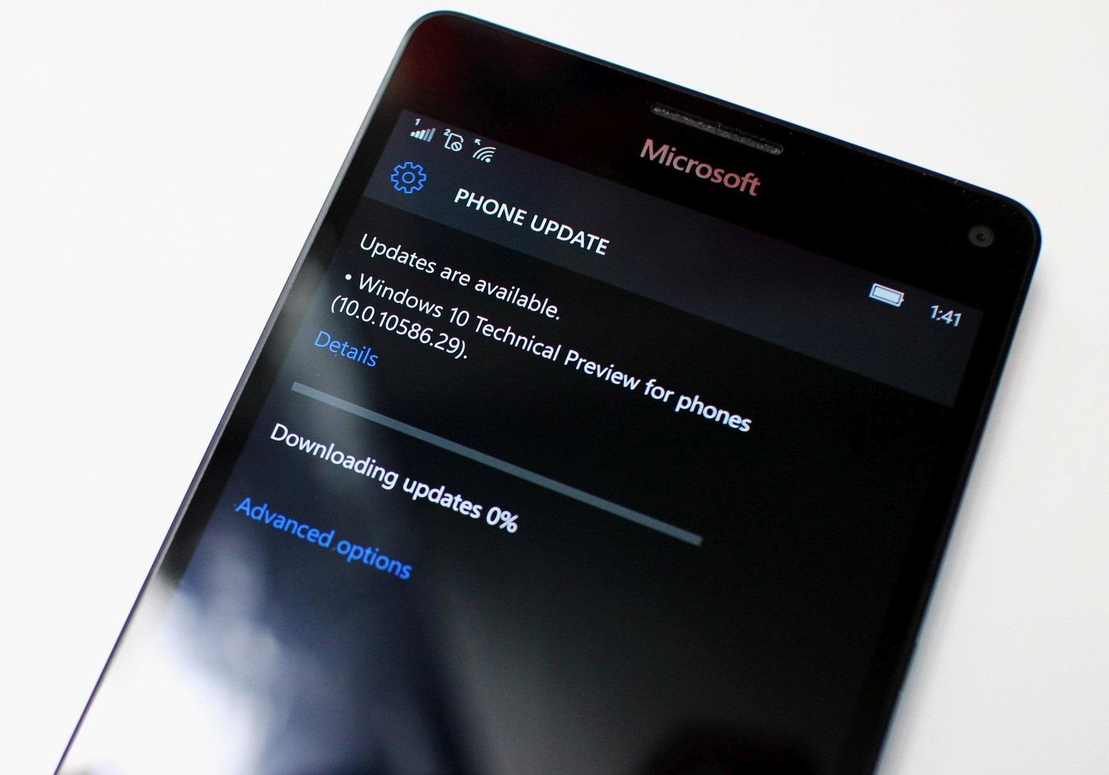 Installare Windows 10 mobile Redstone Lumia