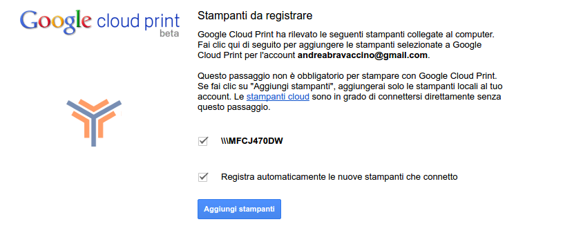 google cloud print come funziona