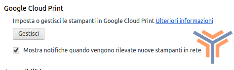 google cloud print stampare wifi