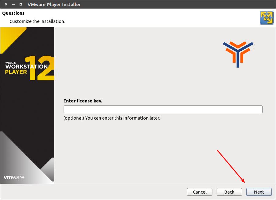 installazione VMware Player Linux 4